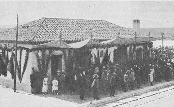 Antigua fotografía del ferrocarril