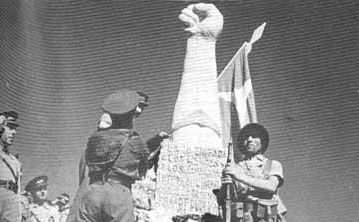 monumento-original-destruido-porlas-tropas- el Batallon Lincoln